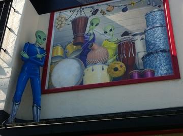 space alien mural