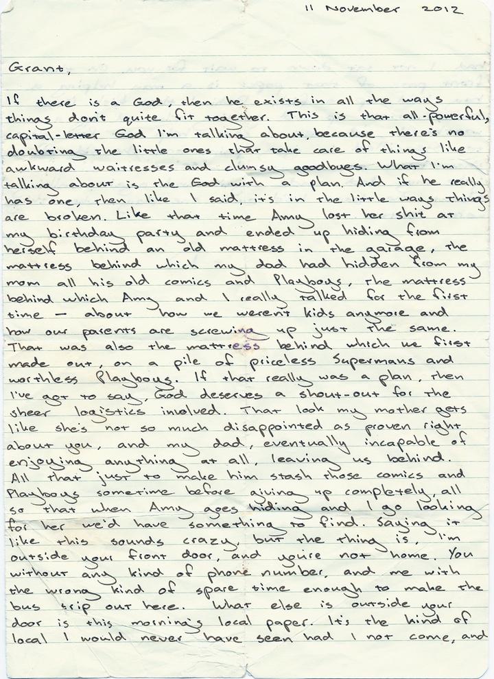Handwritten page 1